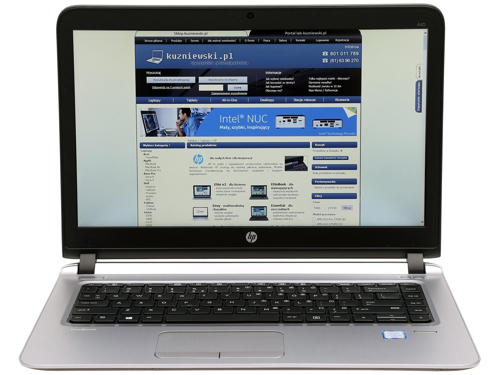 "HP ProBook 440 G3 P5R31EA Intel Core i3 6100U 14 1"" HD 4 GB 500 GB HDD Intel HD Graphics 520 Windows 10 Pro lub 7 Pro pakiet usług i wysyłka"