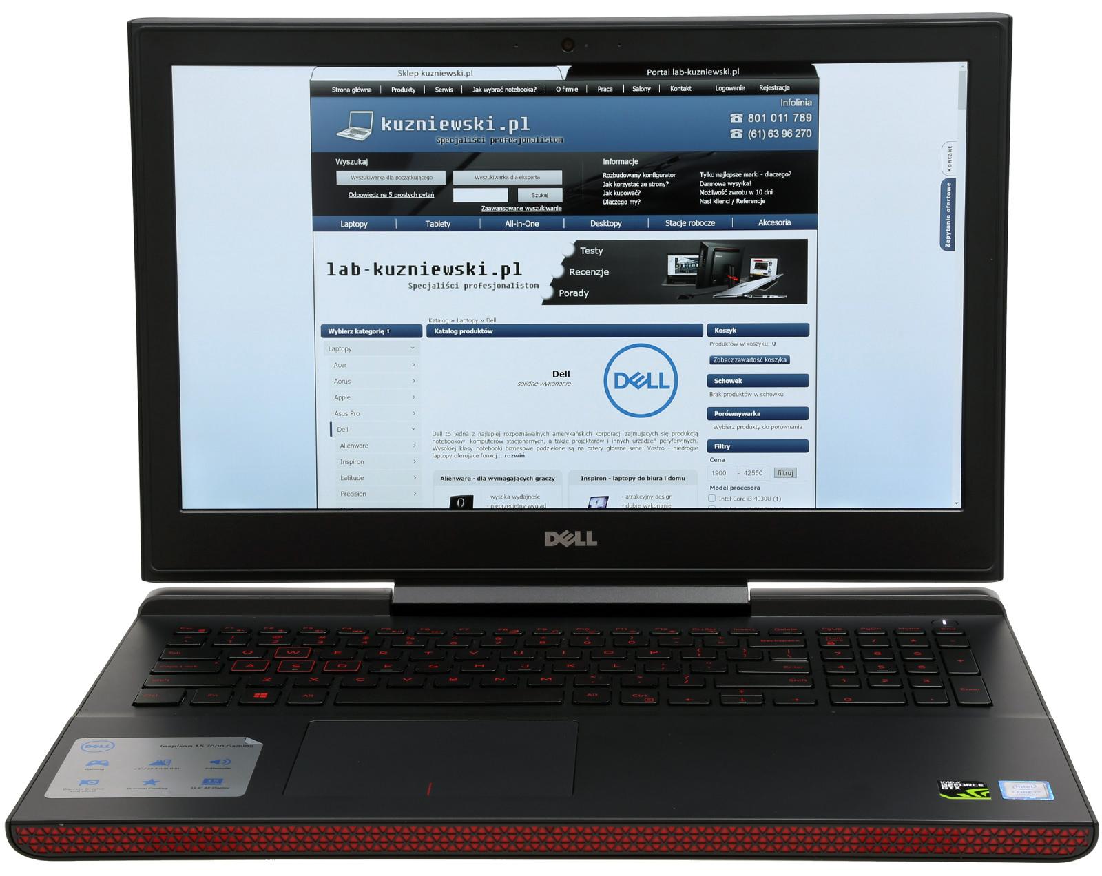 Dell Inspiron 15 7567 5372 Intel Core I5 7300hq 156 Full 3576 Hd 8 Gb 256 Ssd Nvidia Geforce Gtx 1050 Windows 10 Pakiet Usug I Wysyka